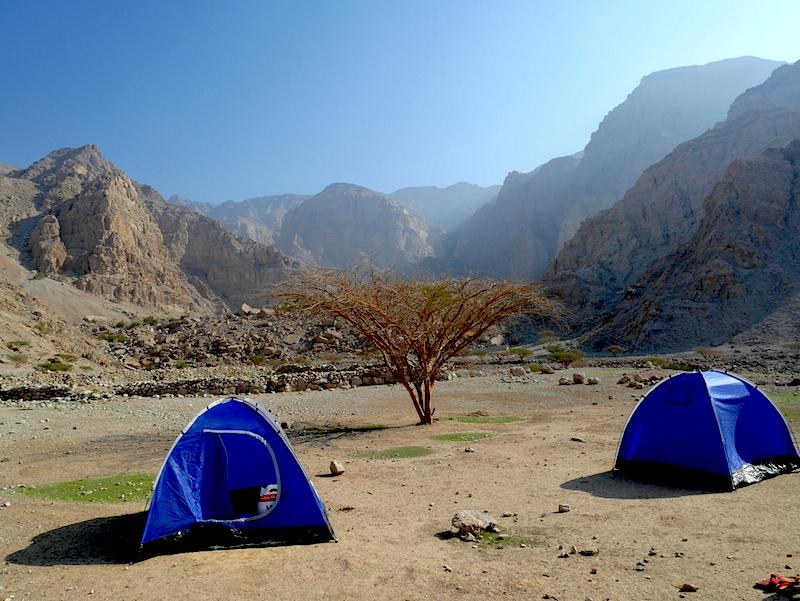 Wadi Bih – víkendový kemping