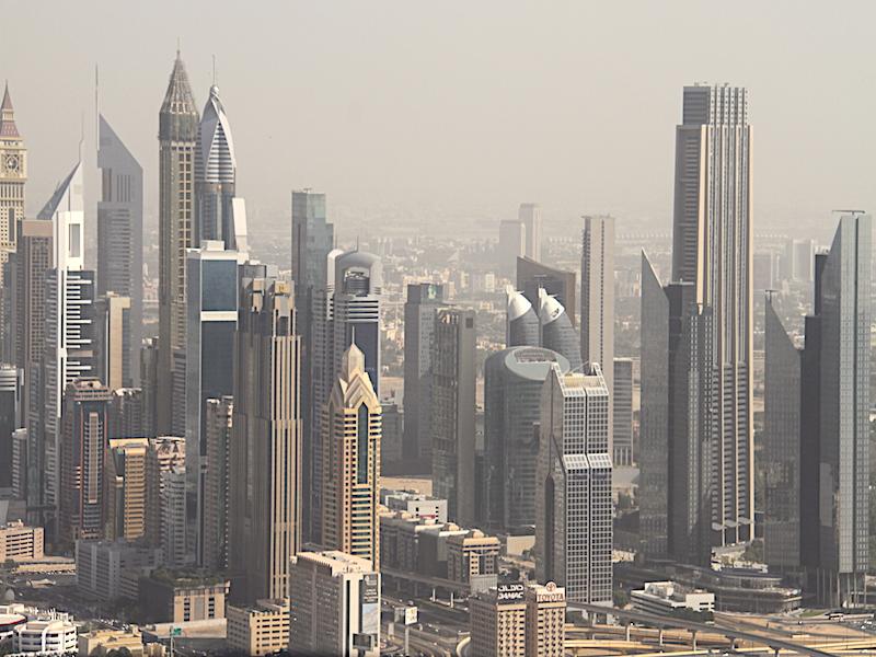 Dubaj z Ptačí Perspektivy